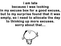excuse box
