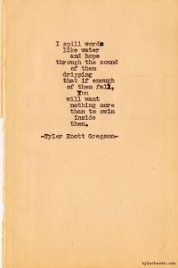 tyler knott gregson words