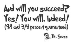 You will succeed.