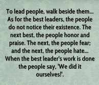 Leaders Walk Beside