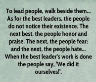 Leaders Walk Beside