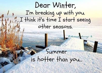 Breaking up with winter.