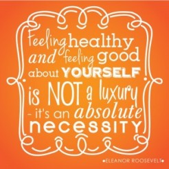 feeling healthy is a necessity